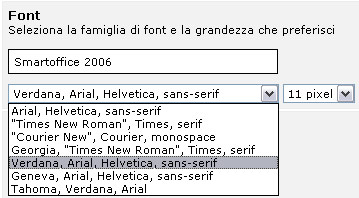 Gestione Font